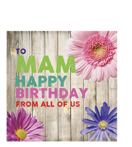 To Mam- Happy Birthday. From All Of Us. (Greetings Cards).