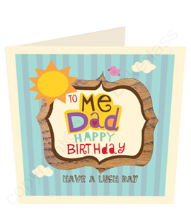 To Me Dad Happy Birthday Geordie Card