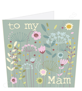 To My Mam Floral Mothers Day Card