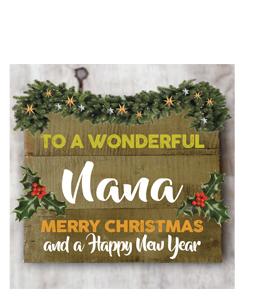 To a Wonderful Nana Merry Christmas (Greetings Card)