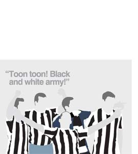 Toon Toon! Black And White Army! (Greeting Card)