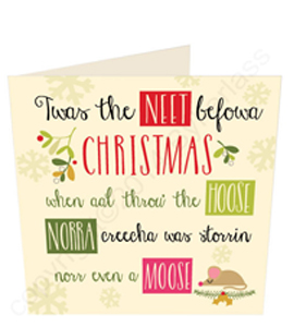 Twas The Neet Befowa Christmas (Greeting Card)
