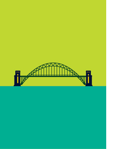Tyne Bridge, Newcastle Pop Art 1 (Greeting Card)