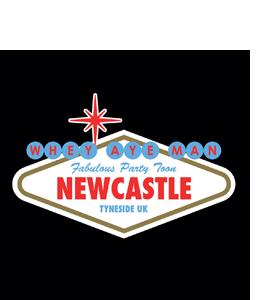 Viva Newcastle Party Toon (Glass Coaster)