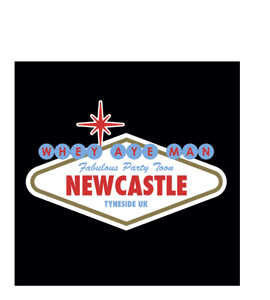 Viva Newcastle Party Toon (Greetings Card)