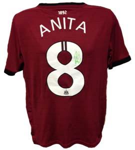 Vurnon Anita Newcastle United Shirt 2012/13 (Match-Worn)