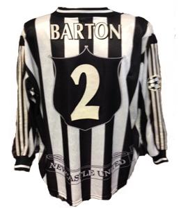 Warren Barton Newcastle United Champions Lge Shirt  (Match-Worn)