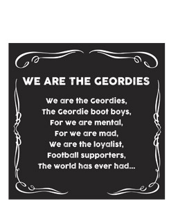 We are the Geordies (Greetings Card)