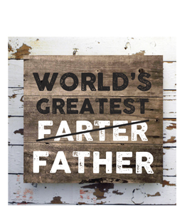 World's Greatest Farter/ Father (Greetings Card)