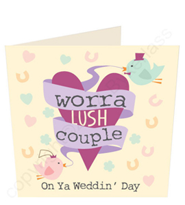 Worra Lush Couple Geordie Wedding Card