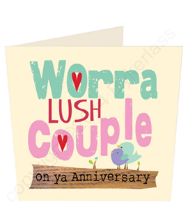 Worra Lush Couple Geordie Anniversary Card