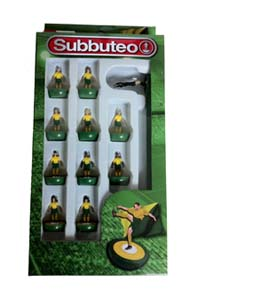 Yellow & Green Subbuteo Team