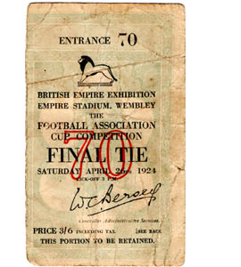 1924 FA Cup Final Newcastle United v Aston Villa (Ticket)