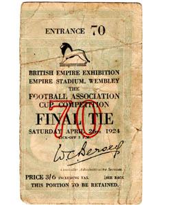 1924 FA Cup Final Newcastle United v Aston Villa (Ticket)