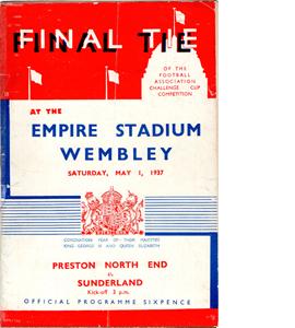1937 FA Cup Final Preston v Sunderland (Programme)