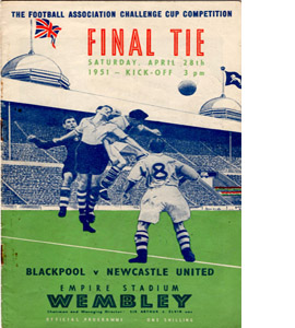 1951 FA Cup Final Blackpool v Newcastle (Programme)