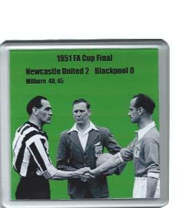 1951 FA Cup Final Newcastle United v Blackpool (Coaster)