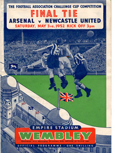 1952 FA Cup Final Arsenal v Newcastle (Programme)