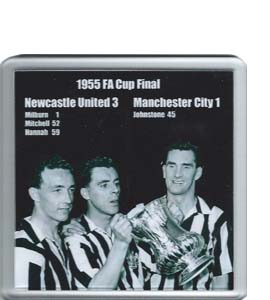 1955 FA Cup Final Newcastle United v Man City (Coaster)