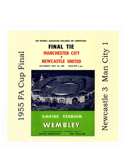 1955 FA Cup Final Newcastle v Man City (Greetings Card)