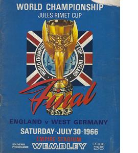 1966 World Cup Final England v West Germany (Programme)