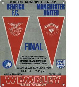 1968 European Cup Final (Metal Sign)