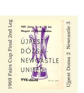 1969 Fairs Cup Final 2nd Leg Programme (Greetings Card)