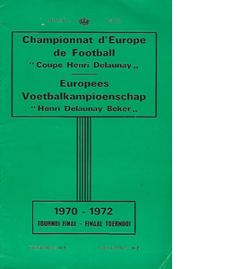 1972 European Championships Tournament Brochure (Programme)