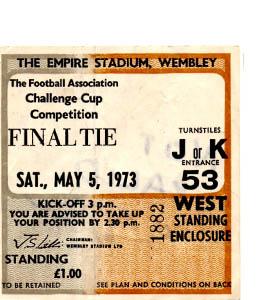 1973 FA Cup Final Sunderland v Leeds United (Ticket)