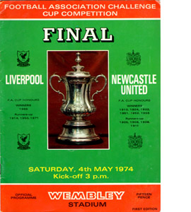 1974 FA Cup Final Liverpool v Newcastle (Programme)