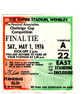 1976 FA Cup Final Southampton v Manchester United (Ticket)