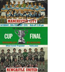 Man City v Newcastle 1976 League Cup Final (Signed Programme)