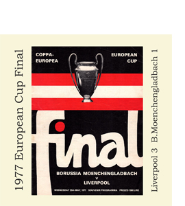 1977 European Cup Final Programme (Greetings Card)