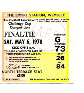 1978 FA Cup Final Ipswich Town v Arsenal (Ticket)