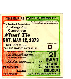 1979 FA Cup Final Arsenal v Manchester United (Ticket)