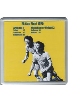 1979 FA Cup Final Arsenal v Man United (Coaster)