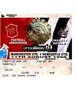 1996 Charity Shield Newcastle United v Manchester United (Ticket