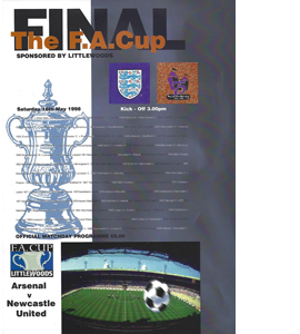 1998 FA Cup Final Arsenal v Newcastle (Programme)