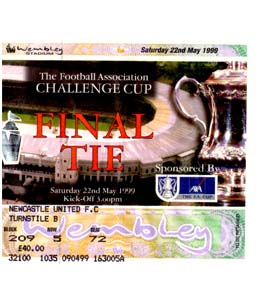 1999 FA Cup Final Newcastle United v Manchester United (Ticket)