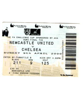 2000 FA Cup S/F Newcastle United v Chelsea (Ticket)