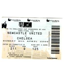 2000 FA Cup S/F Newcastle United v Chelsea (Ticket)
