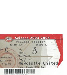 2003/04 PSV Eindhoven v Newcastle United UEFA Cup (Ticket)