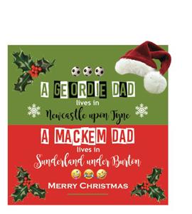 A Geordie Dad Lives in Newcastle (Greetings Card)
