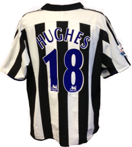 Aaron Hughes Newcastle United Shirt 2004/05 (Match - Worn)