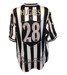 Aaron Hughes Newcastle United Home Shirt 1997/98 (Match-Worn)