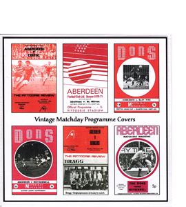 Aberdeen Vintage Programmes (Greetings Card)