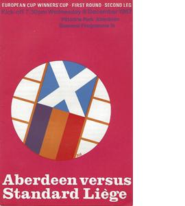 Aberdeen v Standard Liege 1967/68 ECWC (Programme)