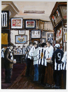 'Adelphi' Newcastle United Fans Pub by Dick Gilhespy (Print)