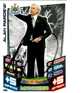 Alan Pardew Newcastle United Match Attax Trade Card (Signed)