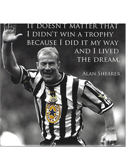 Alan Shearer Quote (Ceramic Coaster)